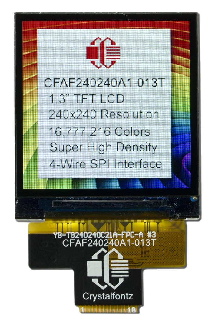 240x240 Color TFT LCD Display Part Number: CFAF240240A1-013T