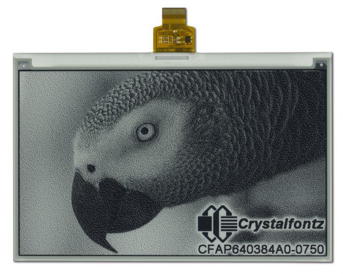"Crystalfontz 7.5"" Black and White ePaper"