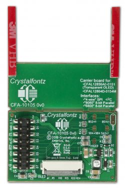 Front of the OLED breakout board