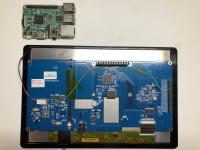 Raspberry Pi and modified HDMI display PCB