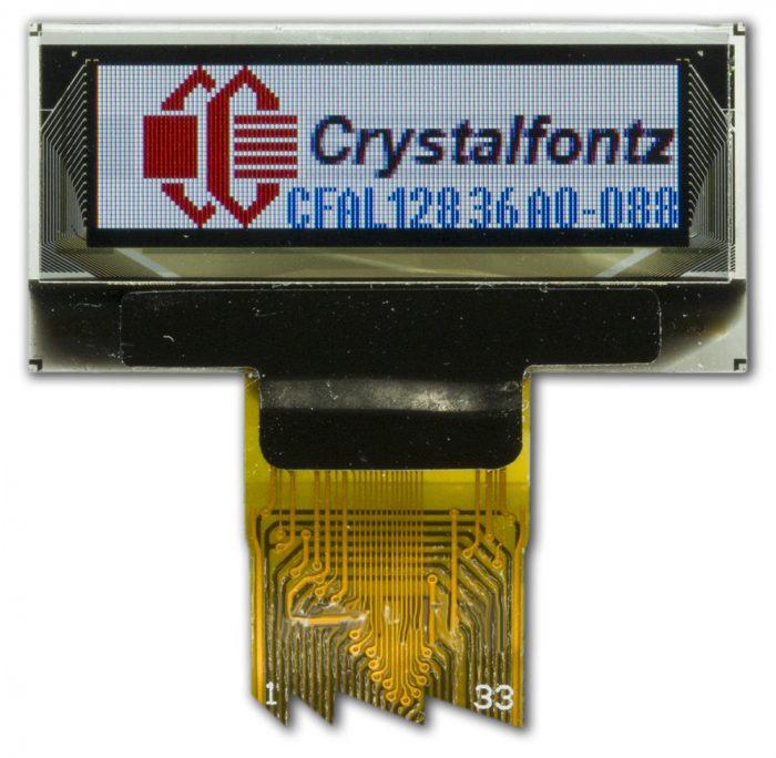 128x36 OLED Display Module - crystalfontz.com