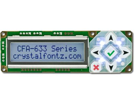 Crystalfontz Positive Mode LCD - CFA633 Series of Character LCDs
