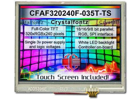 TFT touchscreen - crystalfontz.com