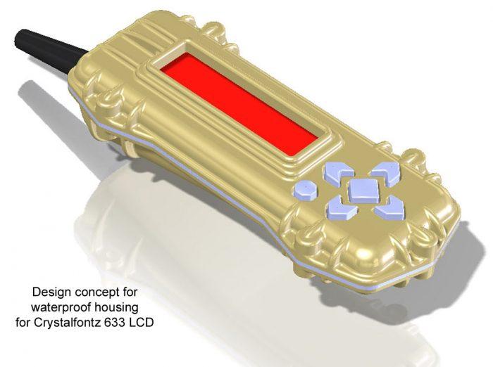 Waterproof 633 Keypad Display Concept Drawing