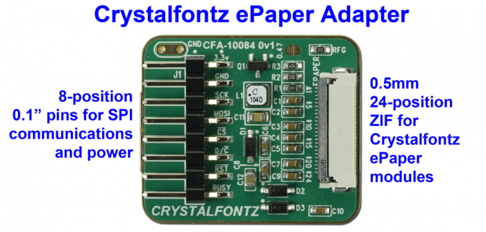 Crystalfontz ePaper Adapter Board