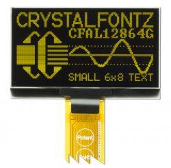Crystalfontz 128x64 Yellow OLED