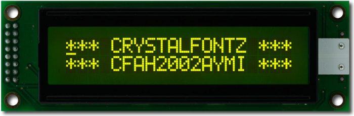 20x2 Character Display - crystalfontz.com