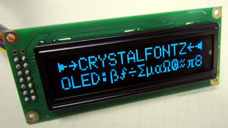 LCD Replacement OLED Module - www.crystalfontz.com