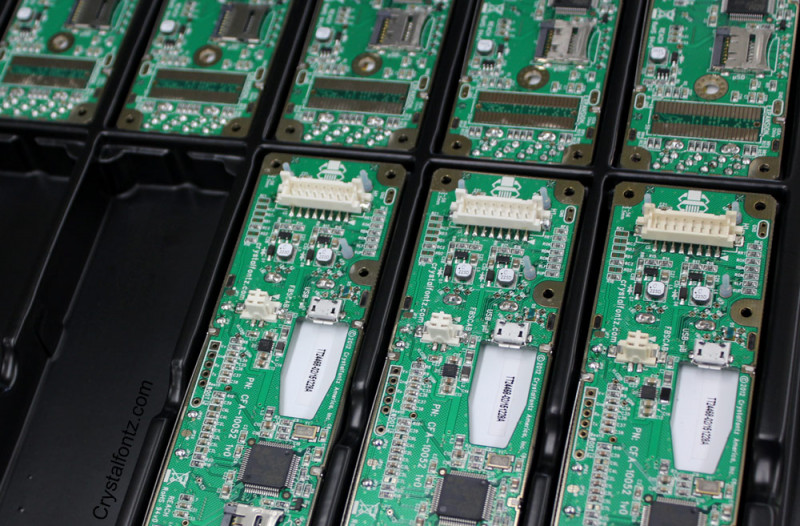 Crystalfontz Production Line - LCD modules that passed inspection