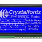 Crystalfontz 160x80 Parallel Graphic LCD