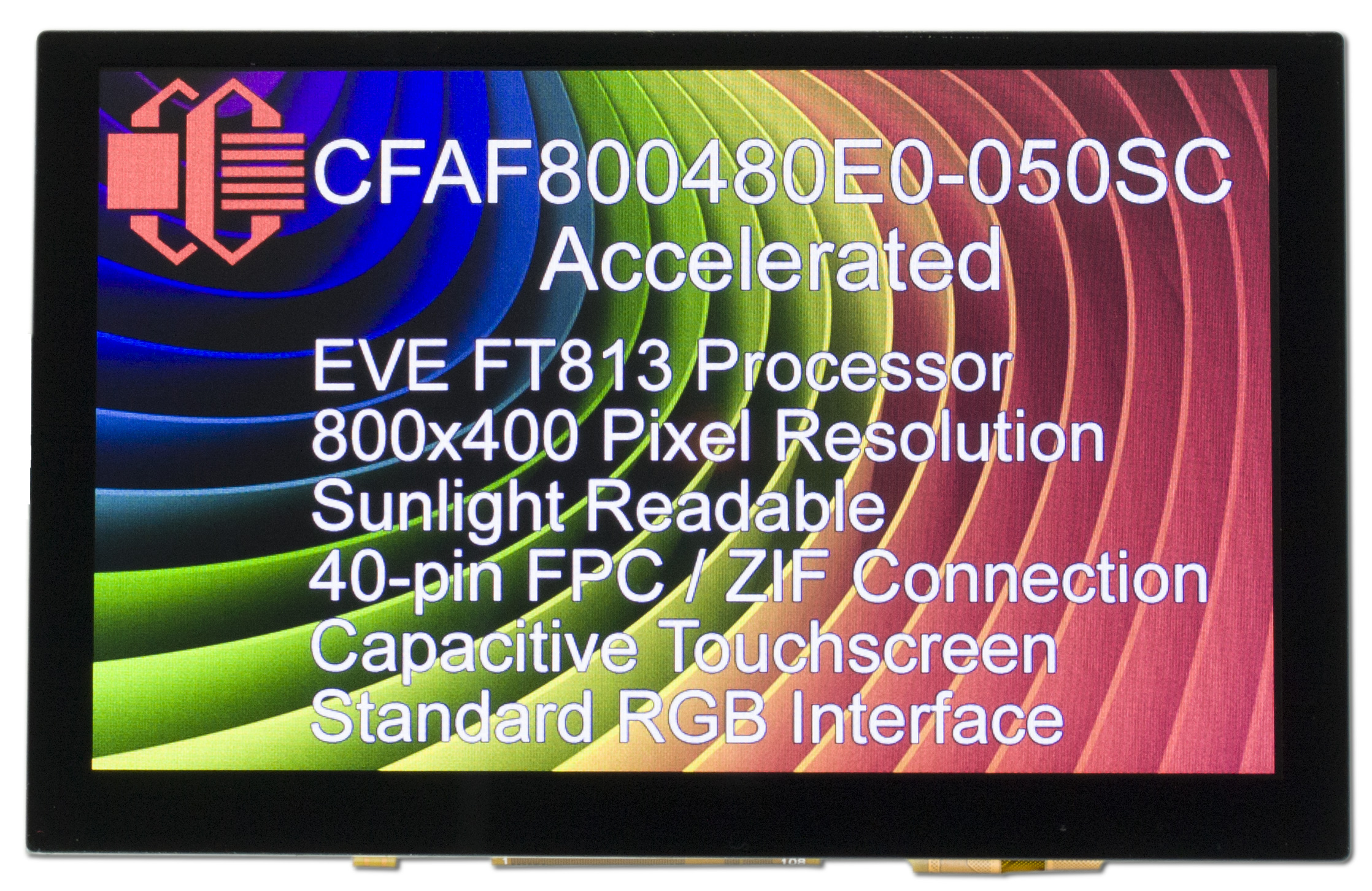 800x480 TFT with Graphic Accelerator Board