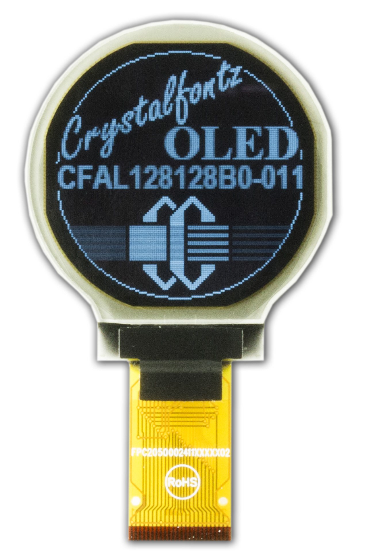 128x128 Round OLED display