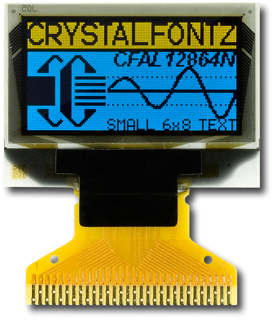 128x64 Graphic Spi Oled Display From Crystalfontz