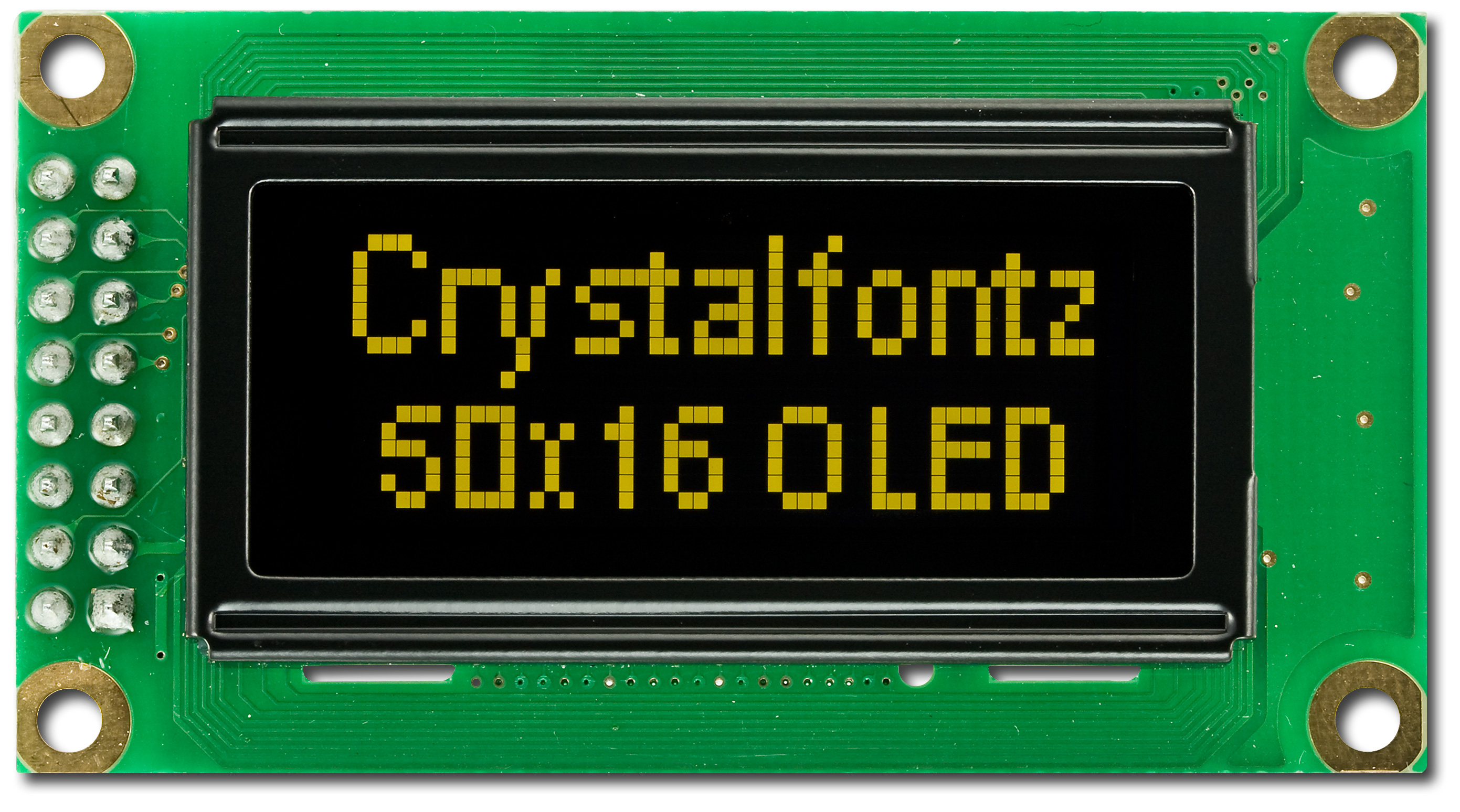 50x16 Graphic Oled Display Cfal5016ay From Crystalfontz Lcd Module In 4 Bit Mode Cfal5016a Y