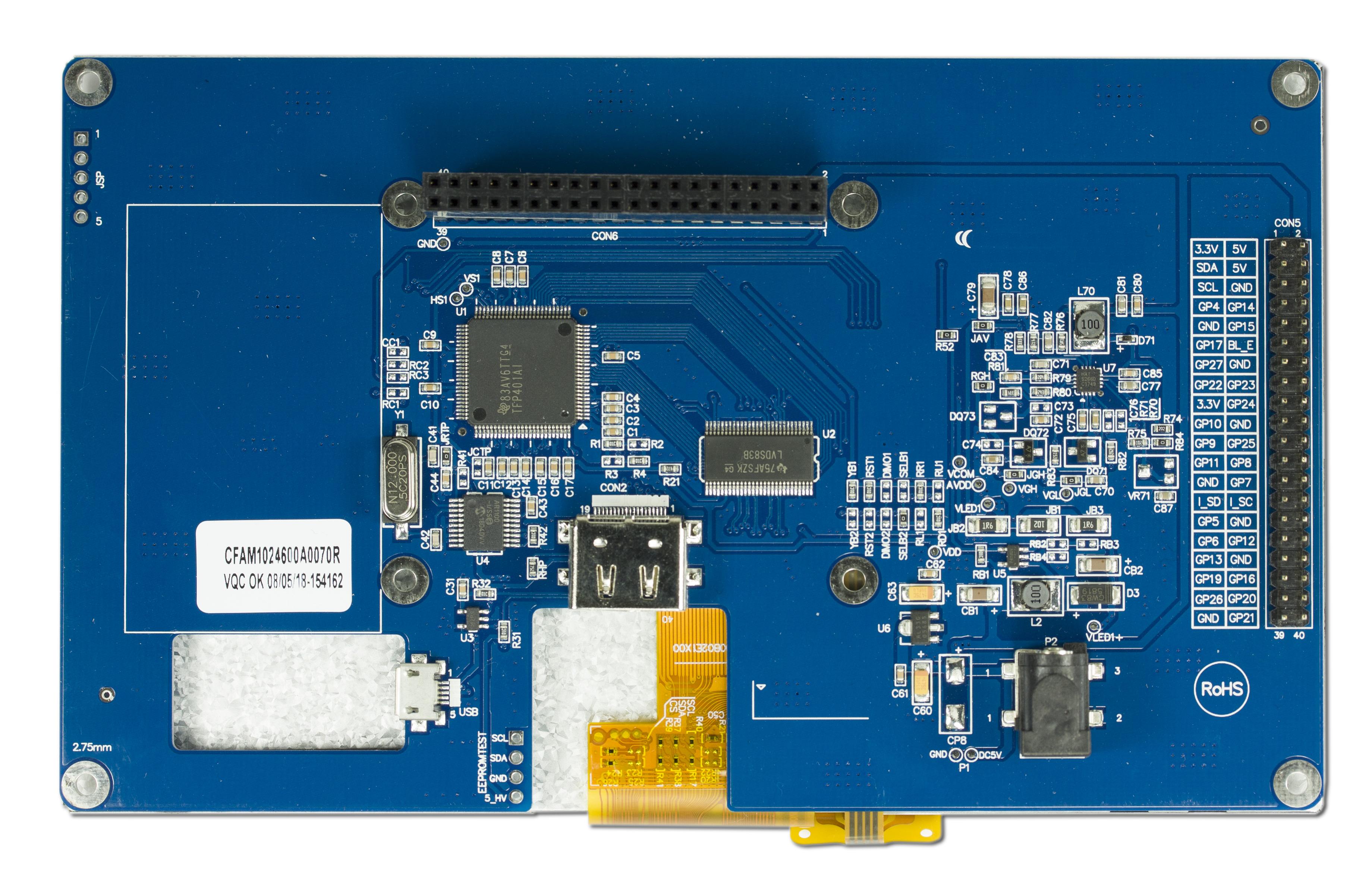 Raspberry pi 7 inch resistive touchscreen HDMI Raspberry pi LCD 1024X600