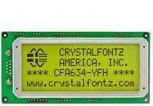 20x4 Character Display LCD CFA634-YFH-KU