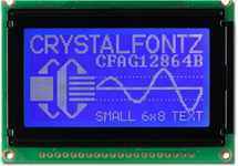 128x64 White on Blue Graphic LCD CFAG12864B-TMI-V