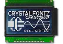 128x64 High Brightness Graphic LCD CFAG12864I-STI-TN