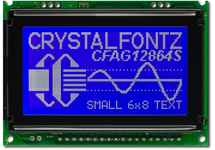 128x64 SPI or Parallel Graphic LCD CFAG12864S-TMI-VT