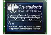 160x128 Parallel Graphic LCD CFAG160128E-STI-TZ