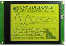 320x240  Parallel Graphic LCD CFAG320240K-YYH-TZ