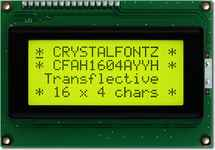 16x4  Parallel Character LCD CFAH1604A-YYH-JT