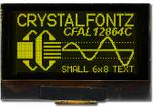 128x64 Graphic OLED Display CFAL12864C-Y-B1