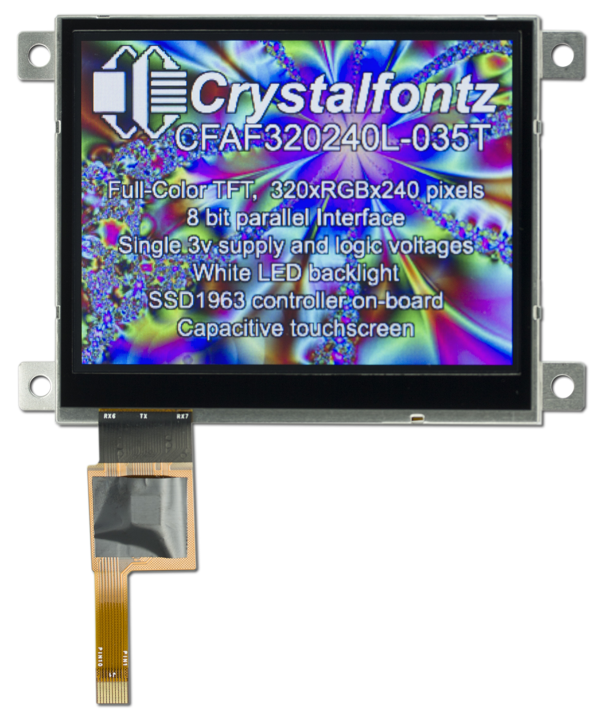 3 5 Quot 320x240 Capacitive Touch Screen Cfaf320240l035tcts
