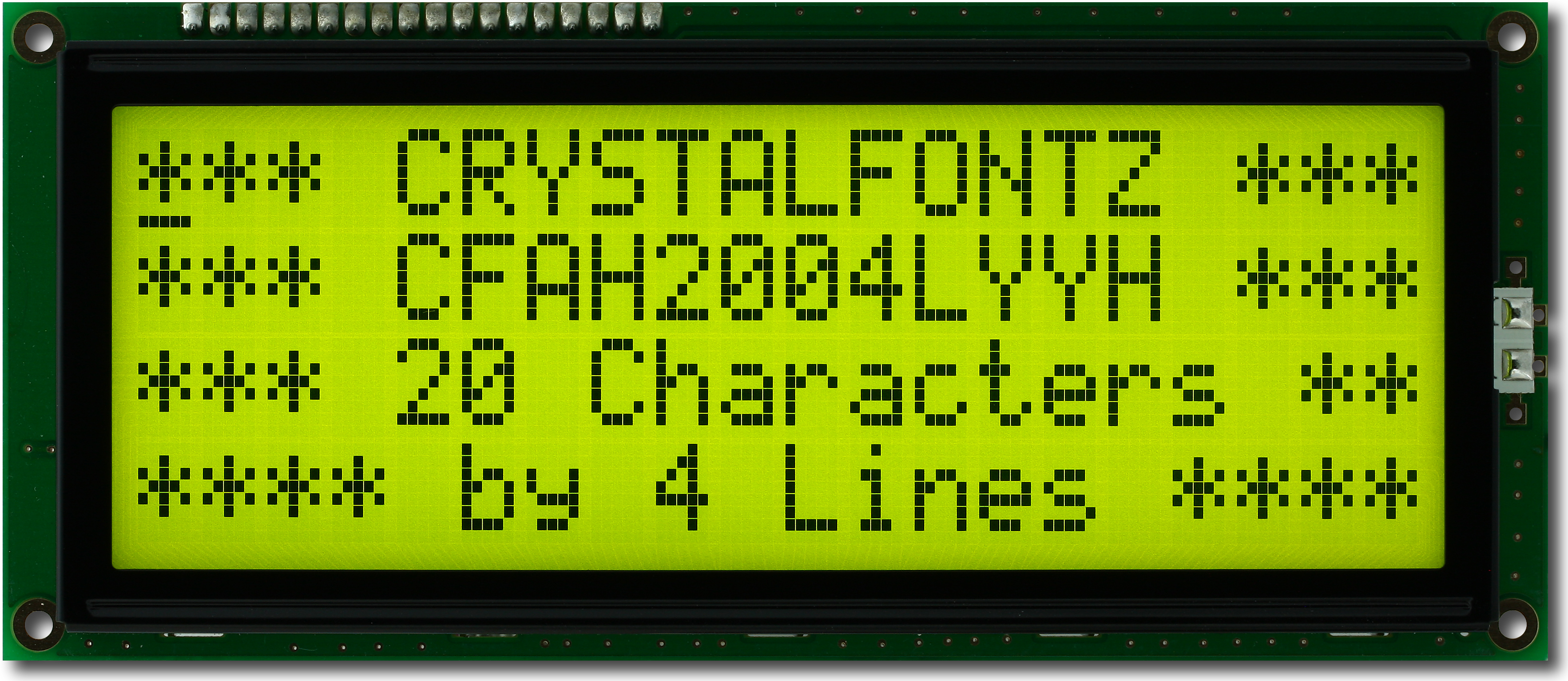 4896862 moreover 2640782 moreover Nhd0216szwby5 P 4214 likewise REDLCD16X2BL further Nhdc12864ggrngbw P 665. on character lcd displays part 1