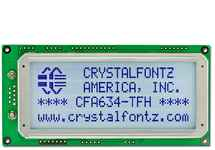 20x4 RS-232 Serial Character LCD CFA634-TFH-KS