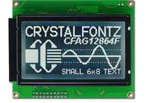 128x64 Parallel Graphic LCD CFAG12864F-STI-TY