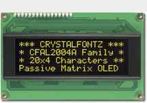 20x4  Parallel Character OLED