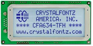 20x4 RS-232 Serial Character LCD (CFA634-TFH-KS)