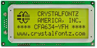 20x4 Serial RS232 Character LCD (CFA634-YFH-KS)