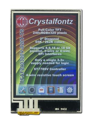 "2.0"" Touchscreen Color TFT 240x320 (CFAF240320V-020T-TS)"