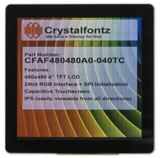 "4"" 480x480 TFT LCD Display (CFAF480480A0-040TC)"