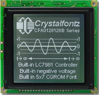 128x128  Parallel Graphic LCD (CFAG128128B-TTI-VZ)
