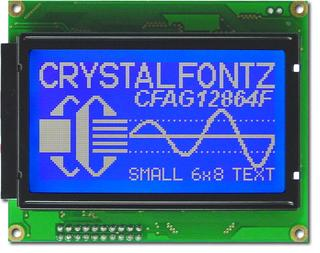128x64  Parallel Graphic LCD (CFAG12864F-TMI-TY)