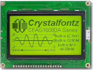 160x80  Parallel Graphic LCD (CFAG16080A-YYH-TZ)