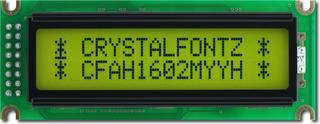 16x2  Parallel Character LCD (CFAH1602M-YYH-ET)