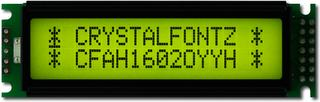 16x2 Sunlight Readable Character LCD (CFAH1602O-YYH-ET)