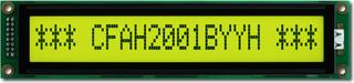 20x1  Parallel Character LCD (CFAH2001B-YYH-ET)