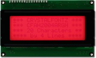 Red 20x4 Character LCD (EOL) (CFAH2004A-RGH-JT)