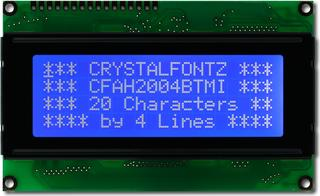 20x4  Parallel Character LCD (CFAH2004B-TMI-ET)