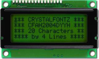20x4 Character Dark on Green LCD (CFAH2004D-YYH-ET)