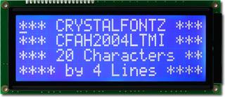 20x4 Character LCD White on Blue (CFAH2004L-TMI-JT)