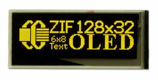 128x32 Small Graphic OLED Module with ZIF Connector (CFAL12832D-BY)