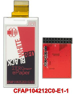 2.13 Inch ePaper with Adapter Board (CFAP104212C0-E1-1)