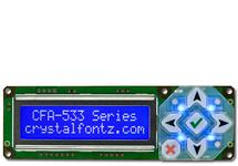White on Blue 16x2 Character USB LCD CFA533-TMI-KU