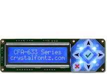 16x2 Character USB LCD Display CFA633-TMI-KU